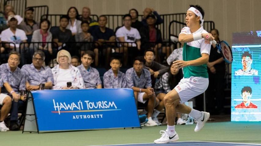 ハワイオープンテニスの錦織選手