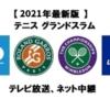 テニスグランドスラムのテレビ放送・ネット中継