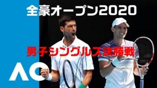 全豪オープンテニス2020男子シングルス決勝戦のD.ティエムvsノバク・ジョコビッチ