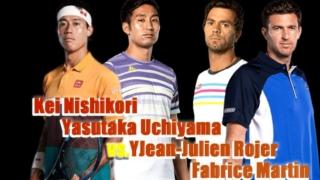 アントワープオープン2020-ダブルス1回戦-錦織圭-内山ペア
