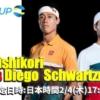 ATPCUP2021-錦織圭vsDシュワルツマンの放送予定