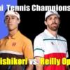 錦織圭vsライリーオペルカ ドバイテニス選手権2021 1回戦