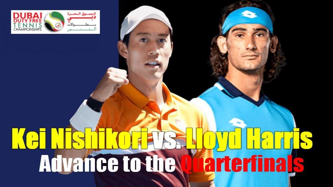 Dubai Duty Free Tennis Championships2021の準々決勝は錦織圭vsロイド・ハリス