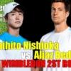 西岡良仁vsA.ベデネ2021ウィンブルドン選手権2回戦