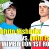 西岡良仁vsジョン・イスナー2021ウィンブルドン選手権1回戦