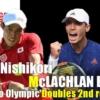 東京五輪テニス男子ダブルス2回戦 錦織圭/マクラクラン勉 ペア