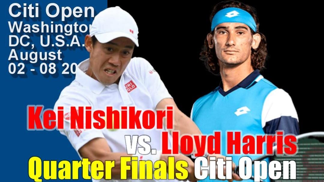 シティ・オープン(ワシントンテニス大会)男子シングルス準々決勝 錦織圭vsロイド・ハリス